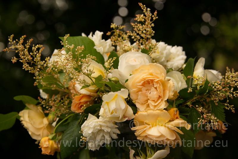 bouquet de roses anciennes ,botaniques et anglaises