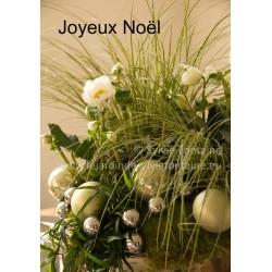 CARTE JOYEUX NOEL N°1 HELLEBORE COMPOSITION